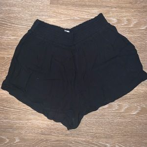 Black, flowy shorts. Size S